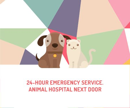 24-hour animal hospital Medium Rectangle Modelo de Design