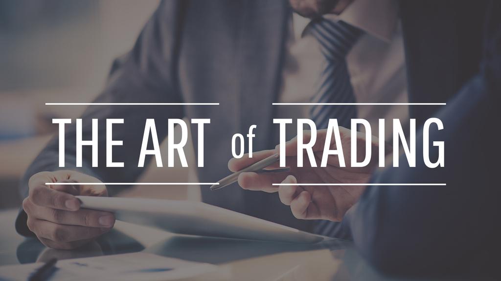 the art of trading poster — Crear un diseño