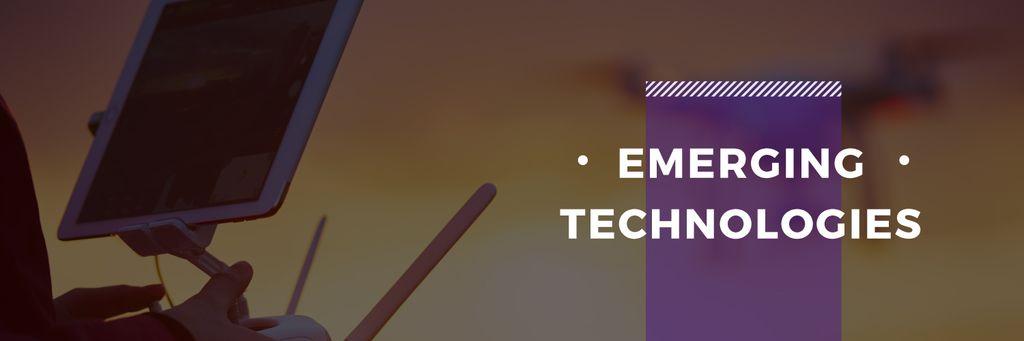 emerging technologies poster — Maak een ontwerp