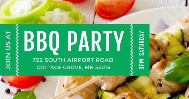 BBQ party Annoucement Facebook AD Design Template