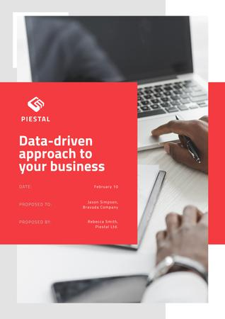 Plantilla de diseño de Business Data platform services Proposal