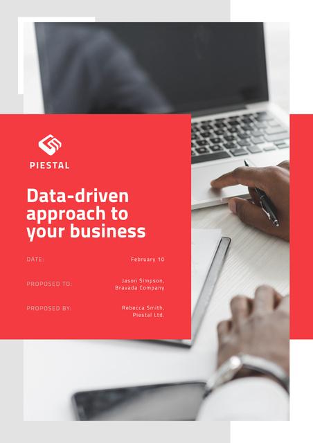 Plantilla de diseño de Business Data platform services Proposal