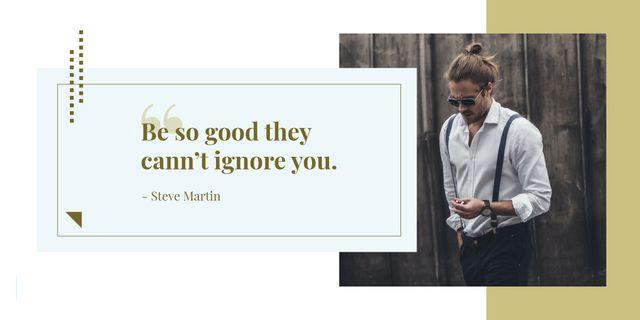 Citation about how to be good Image Modelo de Design