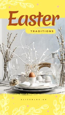 Easter festive dinner Instagram Story – шаблон для дизайна