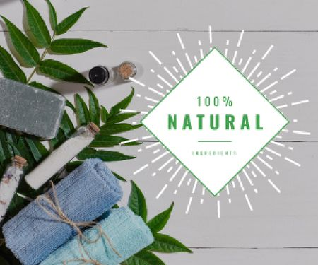 Plantilla de diseño de 100 % natural ingredients banner Medium Rectangle