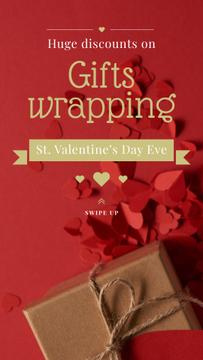 Valentine's Day Gift Wrapping Offer in Red