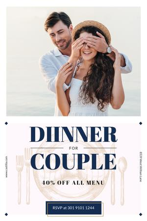 Ontwerpsjabloon van Pinterest van Dinner Offer with Boyfriend Surprises Girl