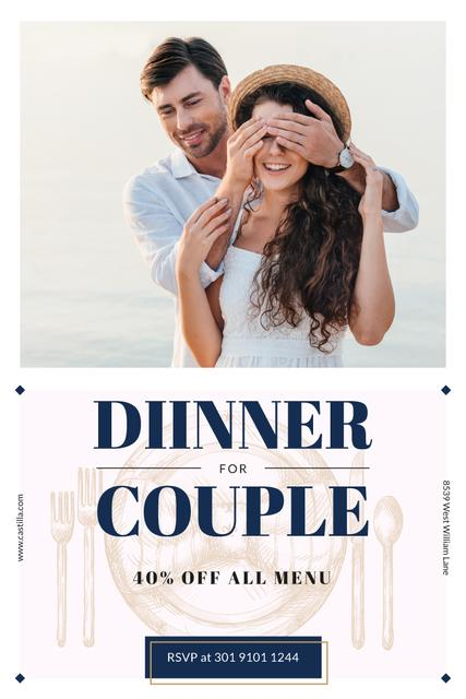 Plantilla de diseño de Dinner Offer with Boyfriend Surprises Girl Pinterest