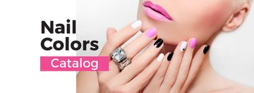 Female Hands with Pastel Nails for Manicure trends