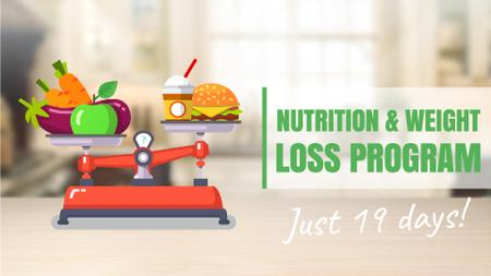 Healthy Nutrition Scales Healthy and Fast Food Full HD video Design Template