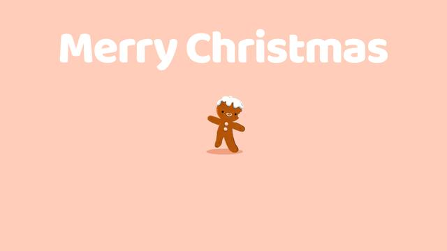 Designvorlage Merry Christmas gingerbread man für Full HD video