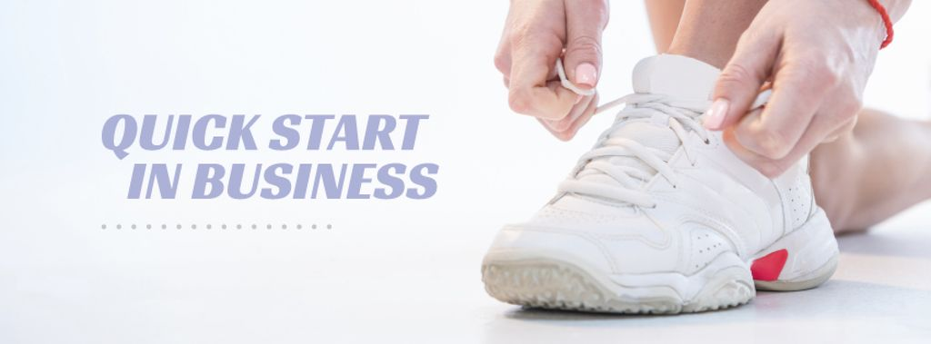 Sneaker Cleaning Service Ad in White —デザインを作成する