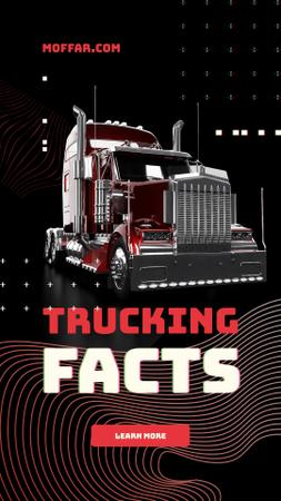 Trucking Facts with Tractor unit car Instagram Story Modelo de Design