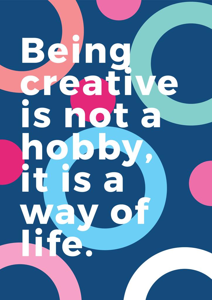 Citation about how to be a creative — Créer un visuel