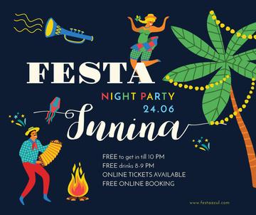 People dancing at Festa Junina night party