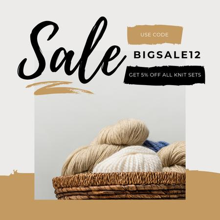 Ontwerpsjabloon van Instagram AD van Special Offer with threads in basket