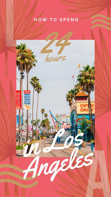 Plantilla de diseño de Los Angeles city street Instagram Story