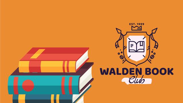 Book Club Ad Rising Pile of Books Full HD video Design Template