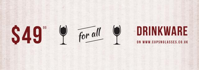 Drinkware Sale Glass with red wine Tumblr – шаблон для дизайну
