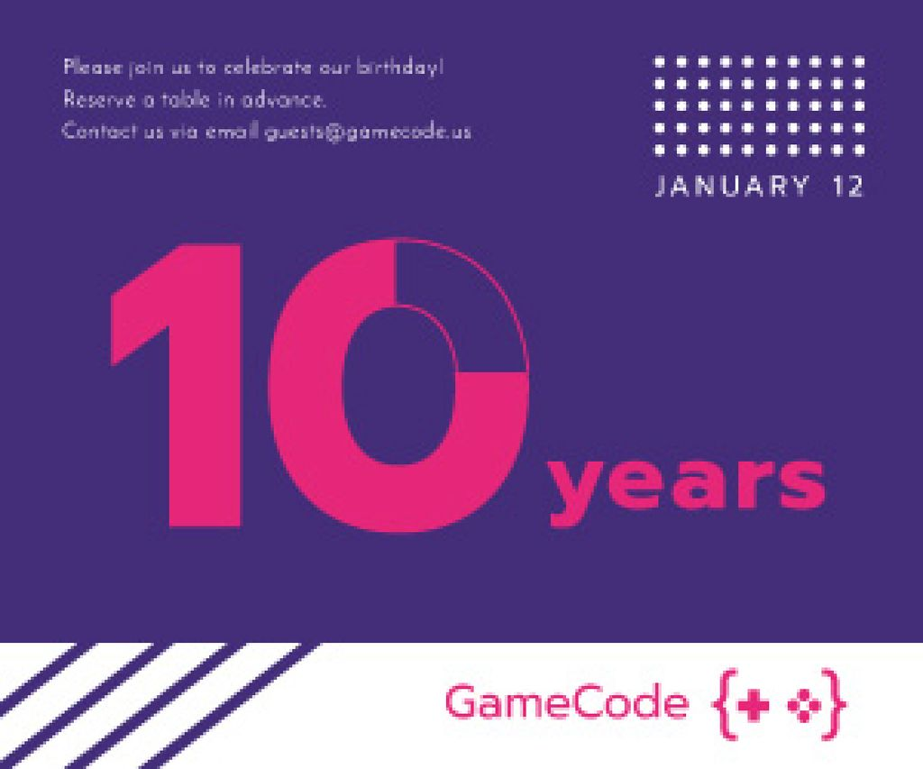 10 years anniversary event announcement — Crear un diseño
