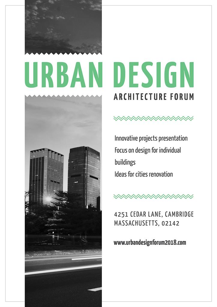 Urban Design architecture forum — Créer un visuel