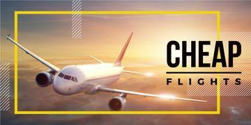 Cheap flights advertisement poster