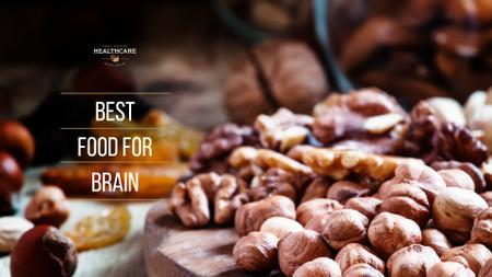 Quote about Brain with Nuts Presentation Wide Modelo de Design