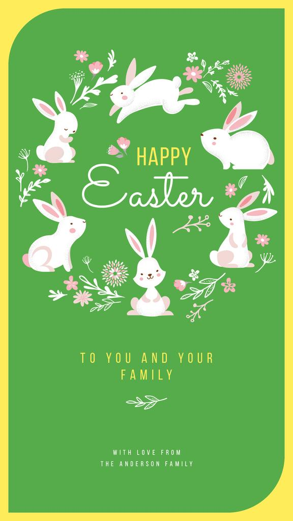 Cute Easter bunnies — Créer un visuel