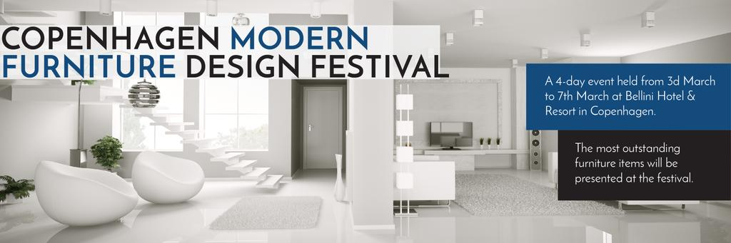 Furniture Design Festival Modern White Room | Twitter Header Template — Crear un diseño