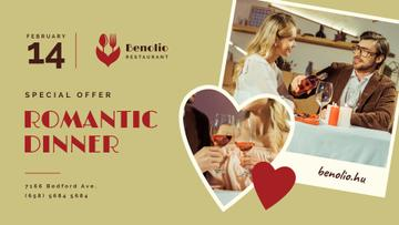 Valentine's Day Couple at Romantic Dinner