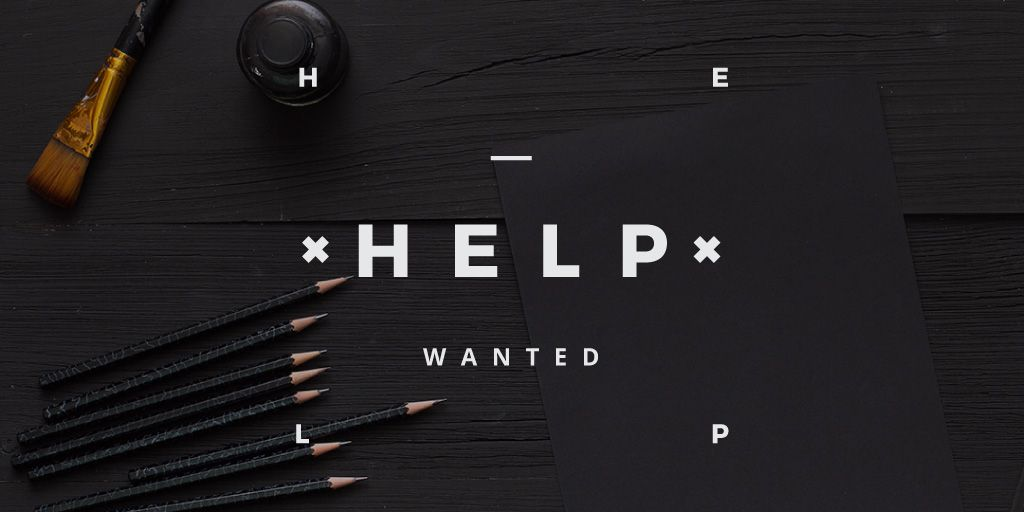 help wanted poster for workshop — Create a Design