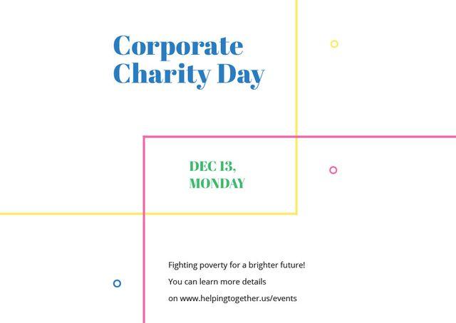 Plantilla de diseño de Corporate Charity Day Card