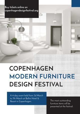 Template di design Modern furniture design festival Poster