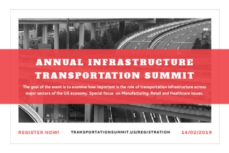 Ontwerpsjabloon van Gift Certificate van Annual infrastructure transportation summit