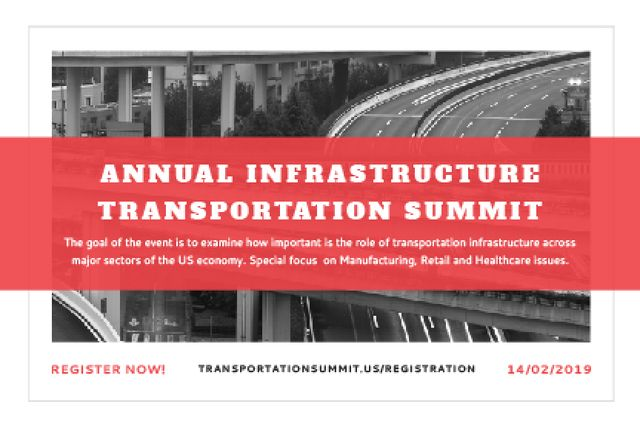 Annual infrastructure transportation summit Gift Certificateデザインテンプレート
