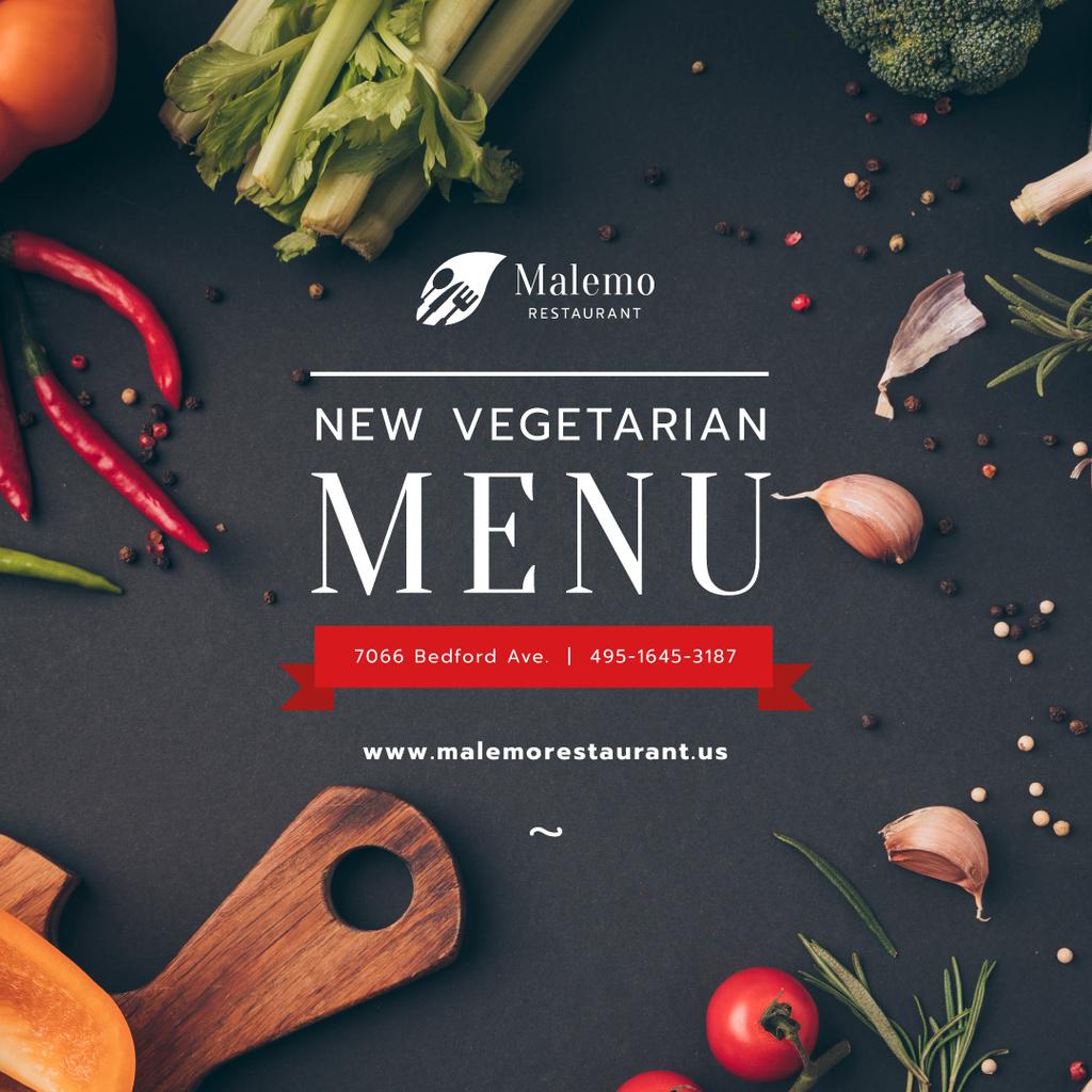 Vegetarian Menu Offer Fresh Vegetables and Condiments — Create a Design