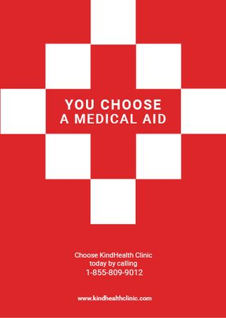 Medicaid Clinic Ad Red Cross Flayer Modelo de Design