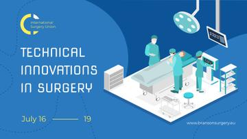 Medicine Innovations Event Surgeons Working in Clinic | Facebook Event Cover Template