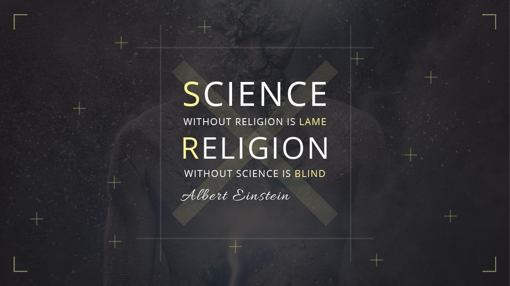 Science and Religion Quote with Human Image — ein Design erstellen