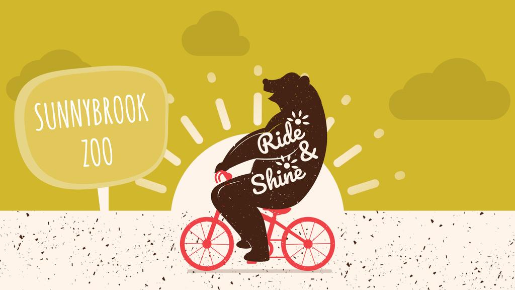 Zoo Invitation Bear Riding Bicycle | Full Hd Video Template — Crea un design