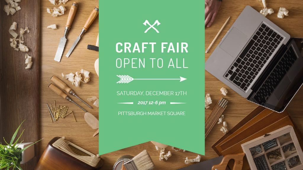 Craft Fair Announcement Wooden Toy and Tools — Створити дизайн