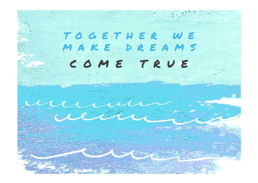 Citation about together dreams — Створити дизайн