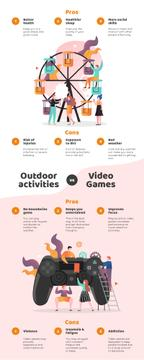 Comparison infographics with Outdoor actiivities and VR