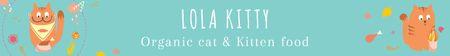 Organic cat food banner Leaderboard Modelo de Design