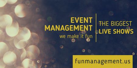 Ontwerpsjabloon van Twitter van Event management live shows advertisement