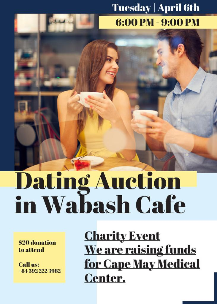 Smiling Couple at Dating Auction — Maak een ontwerp
