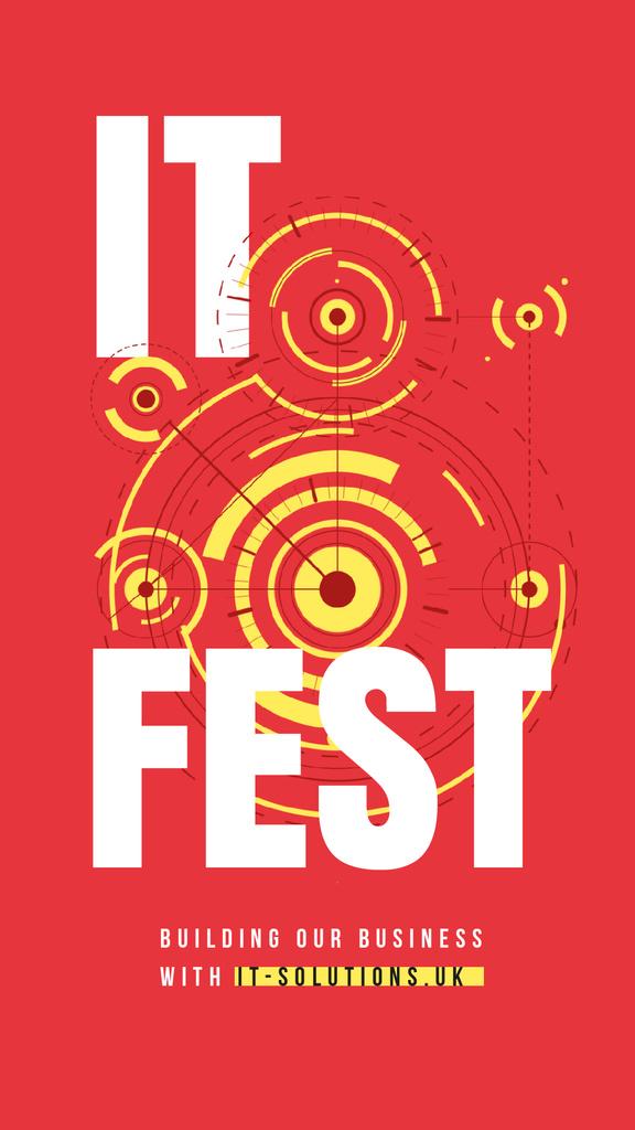IT Fest Announcement Circles Mechanism — Créer un visuel