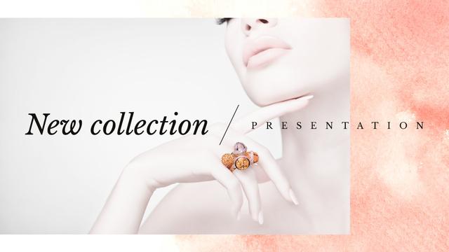 Szablon projektu Jewelry Sale Woman in Precious Rings FB event cover