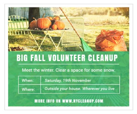 Big fall volunteer cleanup Large Rectangle – шаблон для дизайна