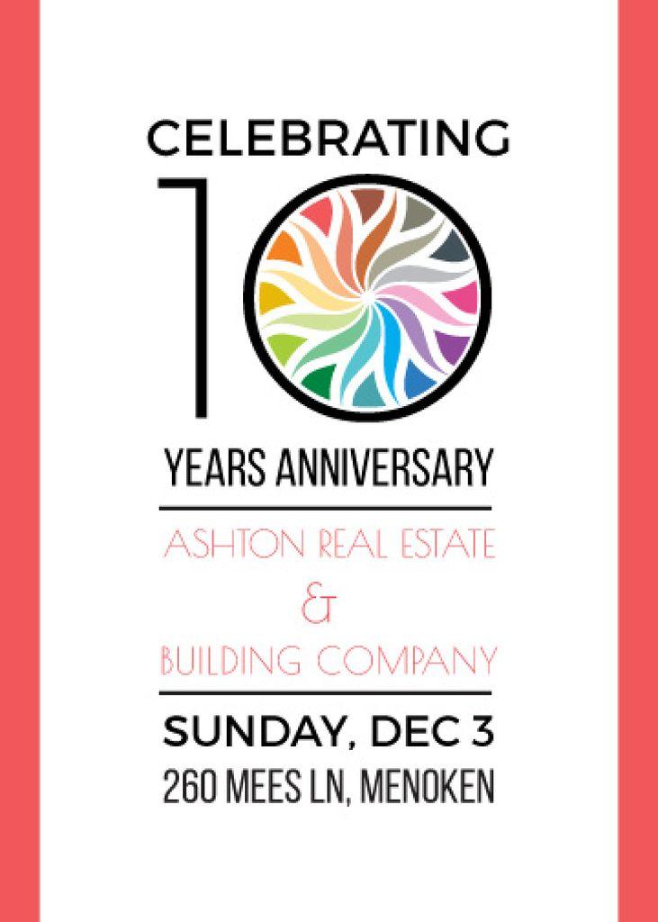 Celebrating company 10 years Anniversary — Crea un design